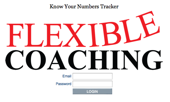 Know Your Numbers Tracker Login Page Example